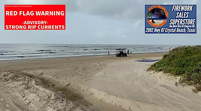 Beach Open To Foot Traffic, 7-11am and 4-8pm On Bolivar Peninsula.