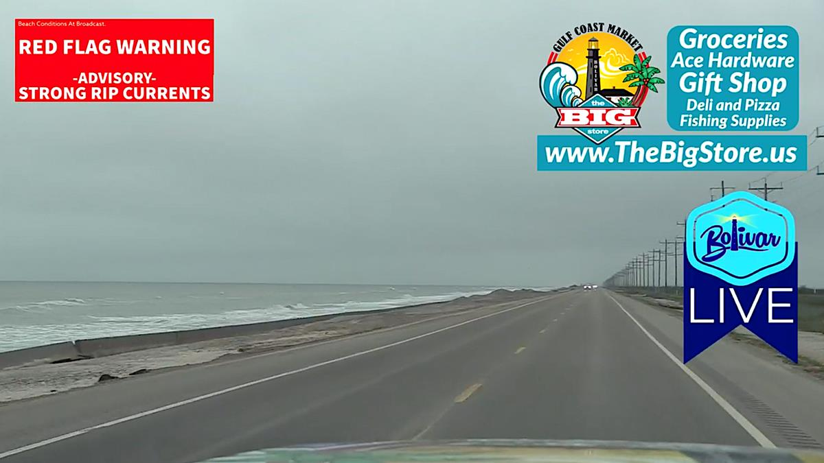Bolivar Peninsula Hwy 87 Clear To Travel