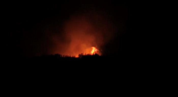 Brush Fire Tonight On Bolivar Peninsula Off Hwy 87.