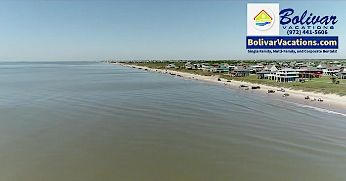 Check Out The Bolivar Peninsula Beachfront This Morning, Right Now!