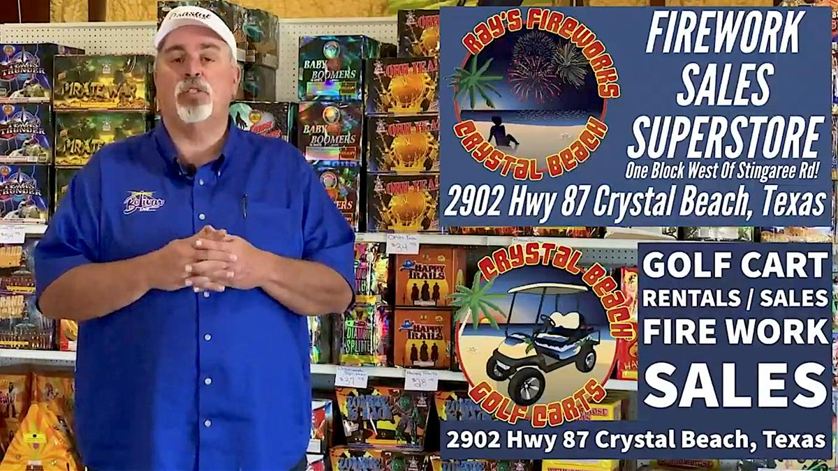 Get Ready For Fireworks In The Sky In Crystal Beach, Texas.