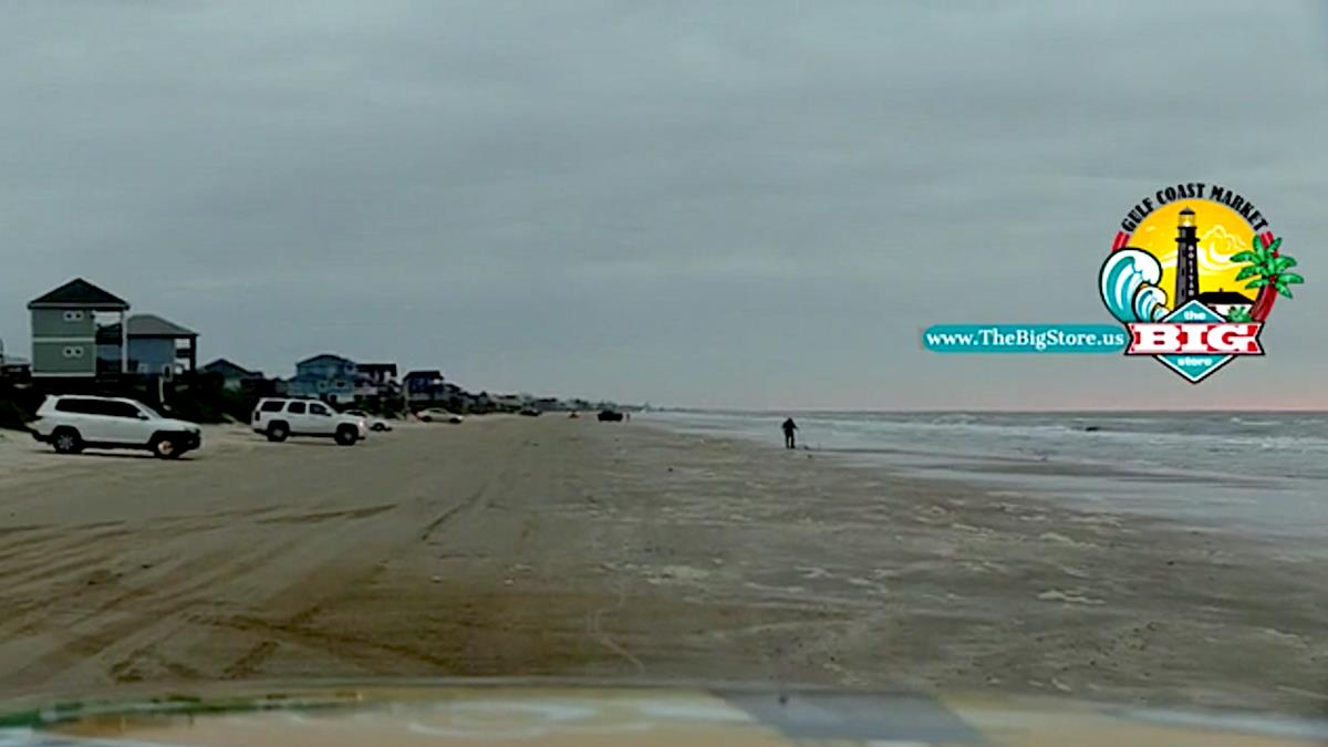 It's A Sunday Morning Beachfront In Crystal Beach, Texas!