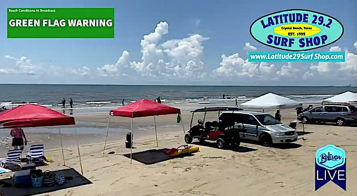 It's A Sunny Family Fun Saturday In Crystal Beach, Texas.