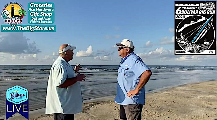 It's Bolivar LIVE Beachfront Talking About The Bolivar Rig In Crystal Beach, Texas.