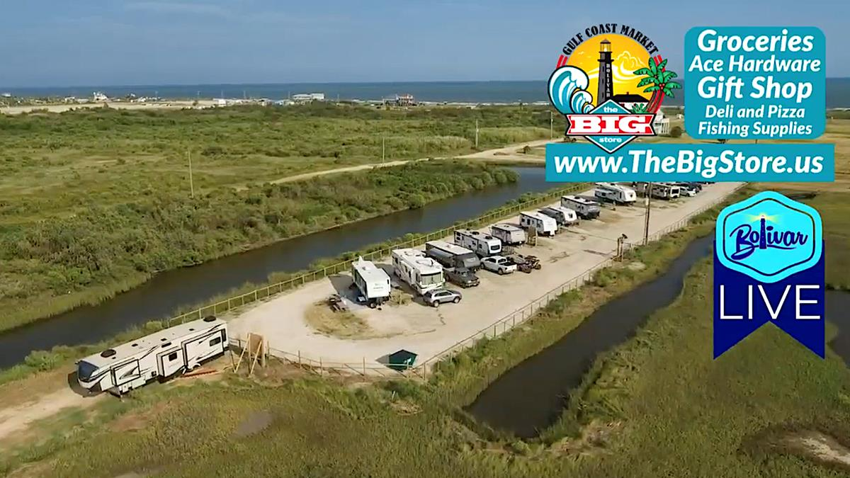 It's Bolivar LIVE Vacation Rents, From Gilchrist, Texas and RV Parks.