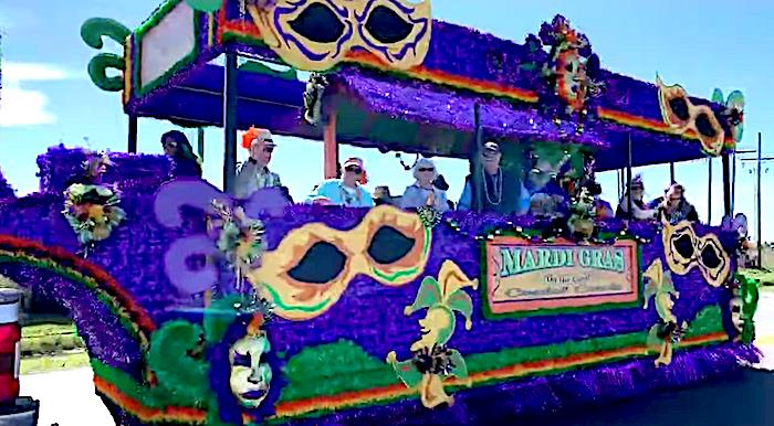 Mardi Gras Parade In Crystal Beach, Texas On Bolivar Peninsula!
