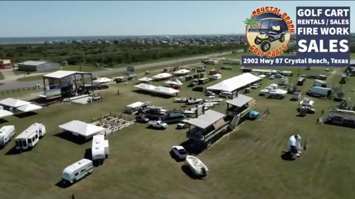 Texas Crab Festival From Above And Below.