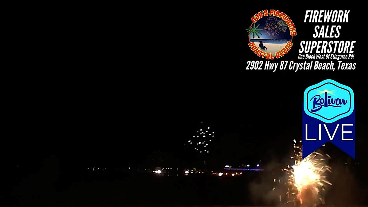 The New Year's Eve Celebration Starts In Crystal Beach, Texas.
