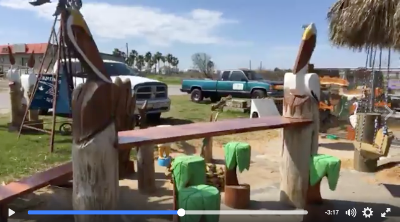 VIDEO: The Tiki Man In Crystal Beach Texas