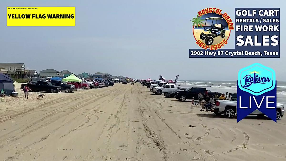 Truck Show Invades Crystal Beach, Texas Beachfront.
