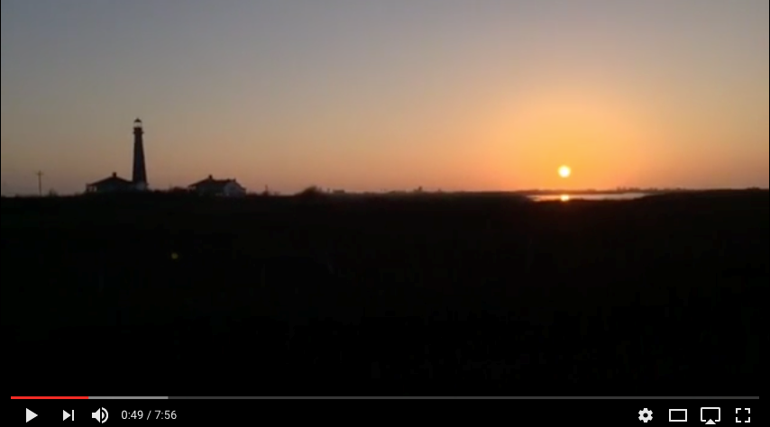 VIDEO: Crystal Beach Sunset and Bolivar Lighthouse Marsh.