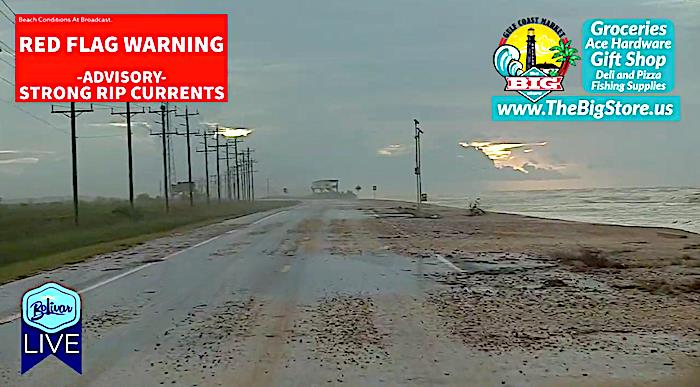 Your Hwy 87 View For Those Traveling To or From Bolivar Peninsula Today.