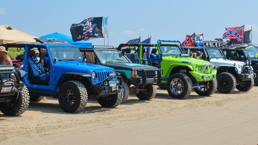 Crystal Beach Texas, Jeeps Enjoy Our Sandy Beach For The weekend.