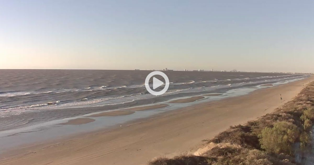 Bluewater Beach Webcam On Bolivar Peninsula Texas Check In Often To Watch The Activity
