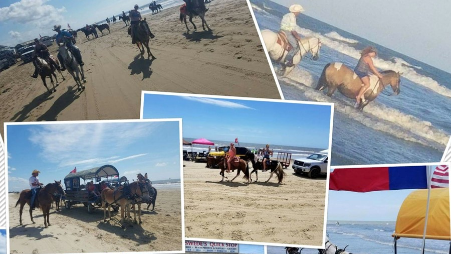 Annual End of Summer Beach Party Trail-ride  2018.