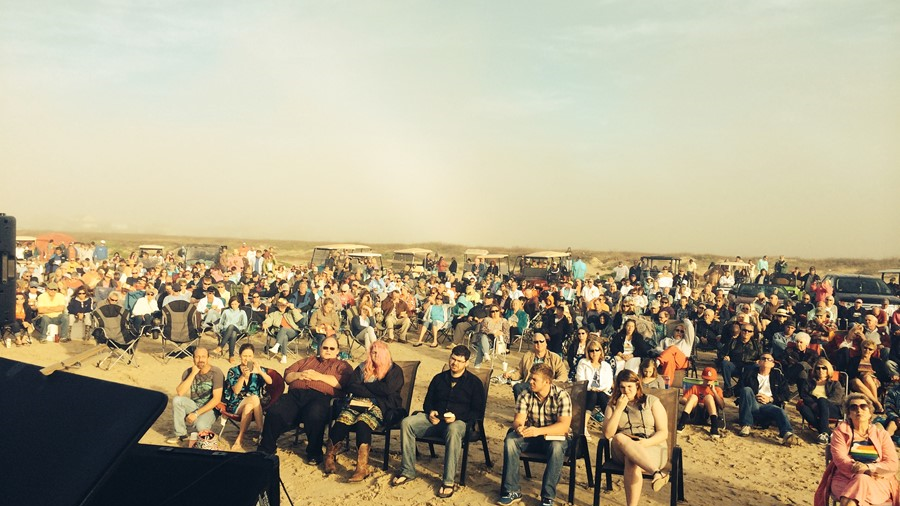Easter Sunrise Service On The Beach