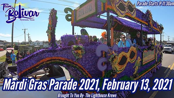 "<a href=""/Event-2021-2-13-Mardi-Gras-Parade-2021-Crystal-Beach-Texas"" itemprop=""url"">Mardi Gras Parade 2021 Crystal Beach, Texas.</a>"