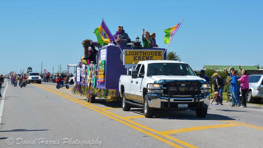 Mardi Gras Parade Crystal Beach Texas.