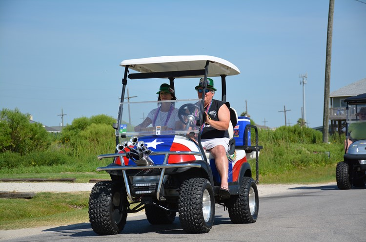Golf poker run